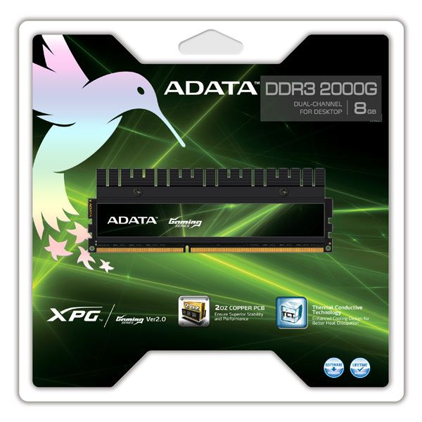 Le kit ADATA XPG Gaming Series sort en 8GB