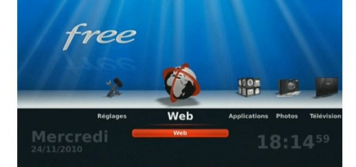 Interface TV Freebox V6