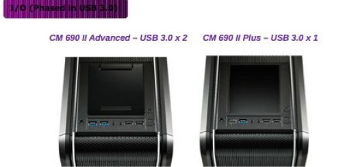 la connectique du CM 690 II Advanced USB 3.0