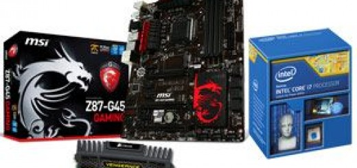 Soldes : kit Haswell, core i7 4770K - MSI Z87-G45 Gaming - 16 Go